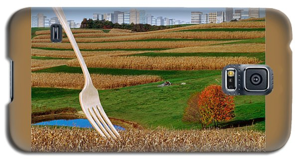 Cornfields With City Galaxy S5 Case