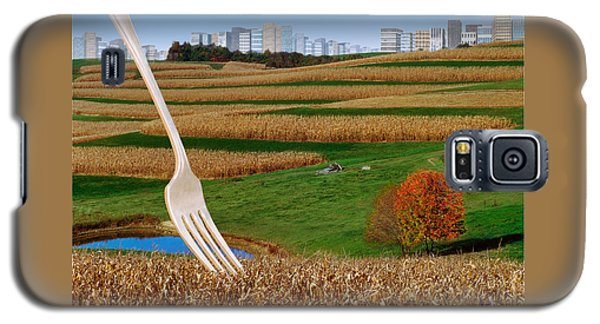 Cornfields With City Galaxy S5 Case
