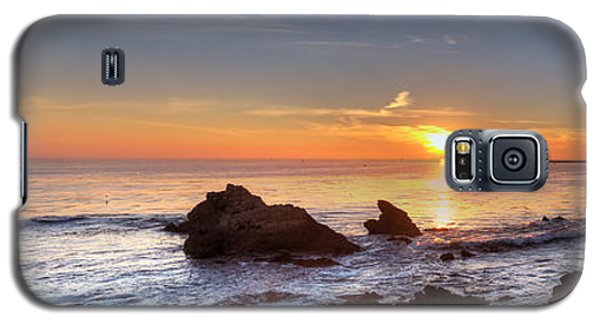 Corona Del Mar Sunset Panorama Galaxy S5 Case by Eddie Yerkish