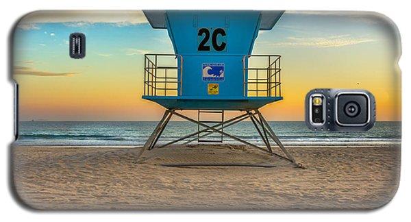 Coronado Beach Lifeguard Tower At Sunset Galaxy S5 Case
