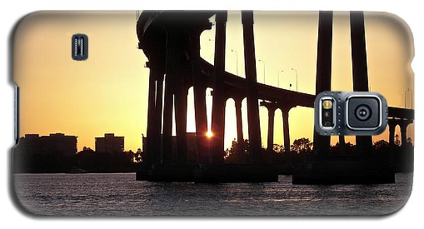 Coronado Bridge Sunset Galaxy S5 Case by Carol  Bradley