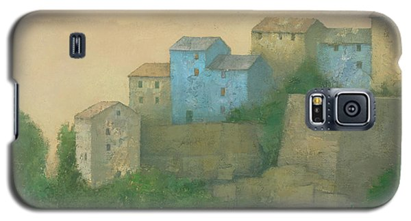 Corsican Hill Top Village Galaxy S5 Case by Steve Mitchell