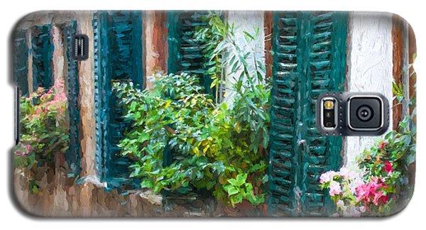 Cortona Window Flowers Galaxy S5 Case