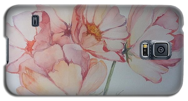 Galaxy S5 Case featuring the painting Cosmea by Iya Carson