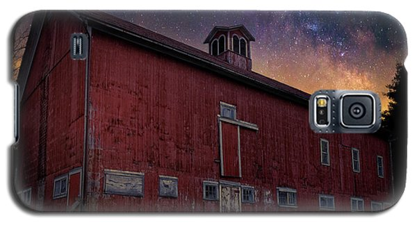 Galaxy S5 Case featuring the photograph Cosmic Barn Square by Bill Wakeley