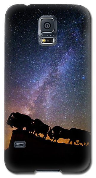 Galaxy S5 Case featuring the photograph Cosmic Caprock Bison by Stephen Stookey