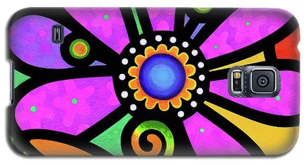 Cosmic Daisy In Pink Galaxy S5 Case