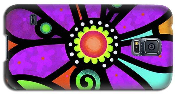 Cosmic Daisy In Purple Galaxy S5 Case