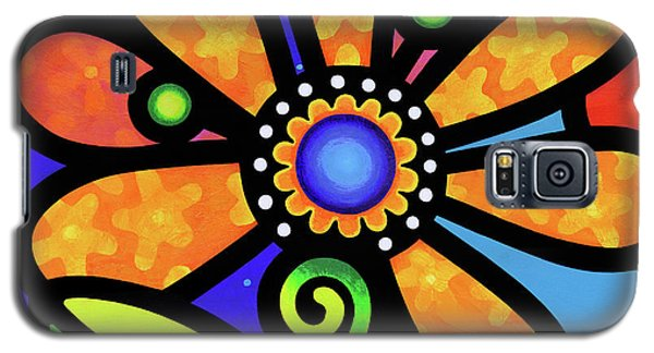Cosmic Daisy In Yellow Galaxy S5 Case