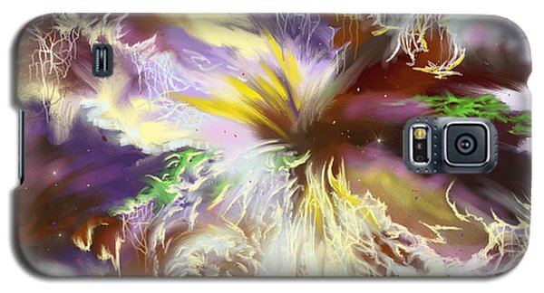 Galaxy S5 Case featuring the digital art The Flowering Of The Cosmos by Amyla Silverflame