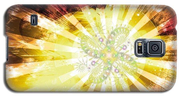 Cosmic Solar Flower Fern Flare 2 Galaxy S5 Case
