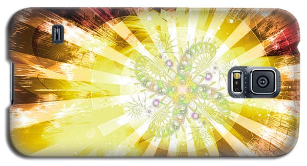 Cosmic Solar Flower Fern Flare 2 Galaxy S5 Case