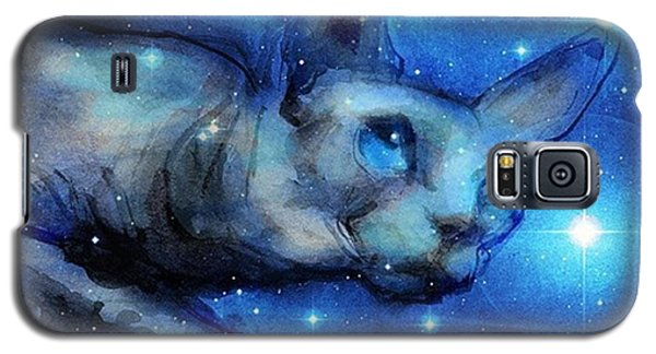 Galaxy S5 Case - Cosmic Sphynx Painting By Svetlana by Svetlana Novikova