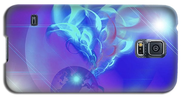 Galaxy S5 Case featuring the digital art Cosmic Wave by Ute Posegga-Rudel
