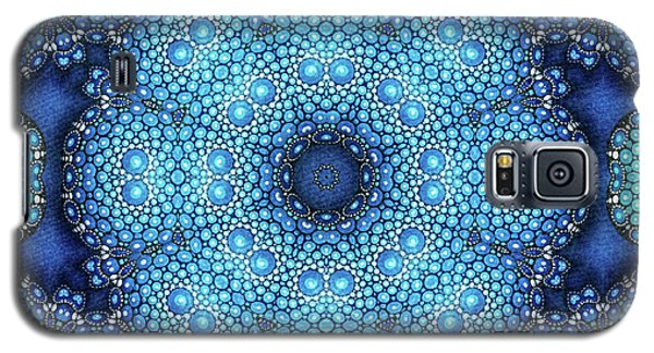 Galaxy S5 Case featuring the drawing Cote D'azur by Mo T