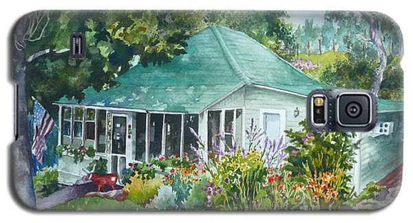 Galaxy S5 Case featuring the painting Cottage At Chautauqua by Anne Gifford