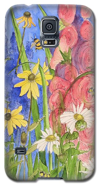 Cottage Garden Daisies And Blue Skies Galaxy S5 Case