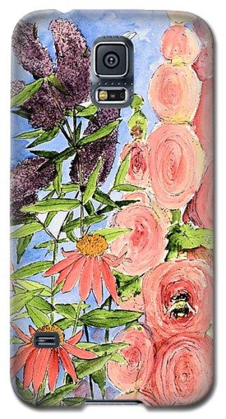 Cottage Garden Hollyhock Bees Blue Skie Galaxy S5 Case