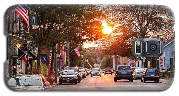 Cottage Street Summer Sunset Galaxy S5 Case