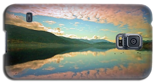 Galaxy S5 Case featuring the photograph Cotton Candy Clouds At Skaha Lake by Tara Turner