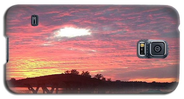 Galaxy S5 Case featuring the photograph Cotton Candy Sunset by Rebecca Wood