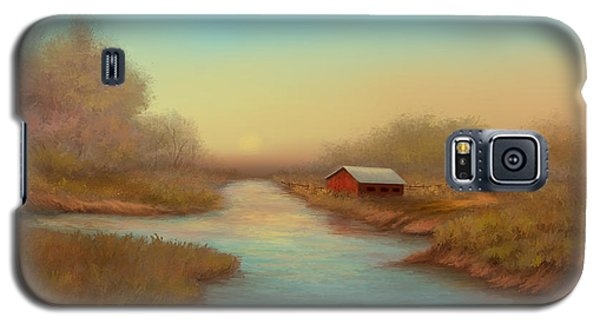 Galaxy S5 Case featuring the painting Country Barns by Sena Wilson