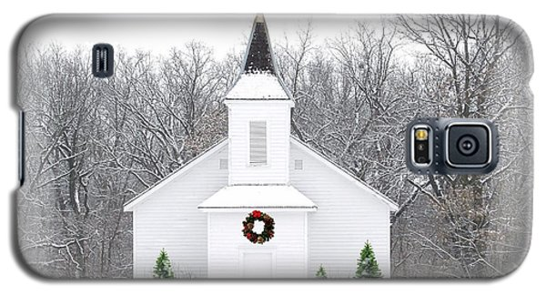 Country Christmas Church Galaxy S5 Case by Carol Sweetwood