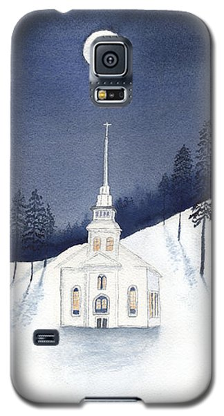 Country Church In Moonlight 2, Silent Night Galaxy S5 Case