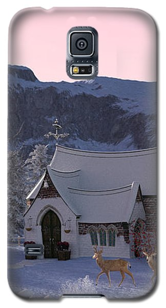 Galaxy S5 Case featuring the digital art Country Church by Methune Hively