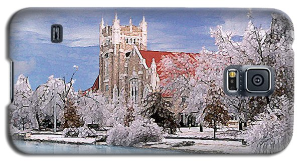 Galaxy S5 Case featuring the photograph Country Club Christian Church by Steve Karol