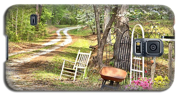 Galaxy S5 Case featuring the photograph Country Driveway In Springtime by Gordon Elwell