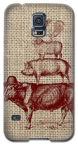 Cow Galaxy S5 Case - Country Farm Friends 2 by Brandi Fitzgerald