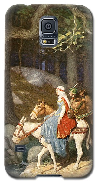 Country Folk Wending Their Way To The Tourney Galaxy S5 Case by Newell Convers Wyeth