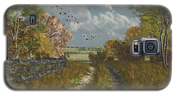 Country Lane In Fall Galaxy S5 Case