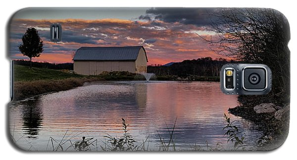 Galaxy S5 Case featuring the photograph Country Living Sunset by Lara Ellis