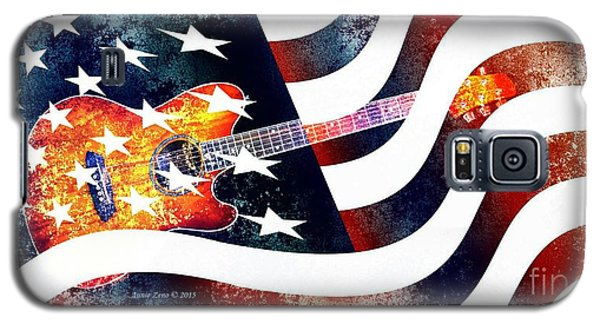 Country Music Guitar And American Flag Galaxy S5 Case