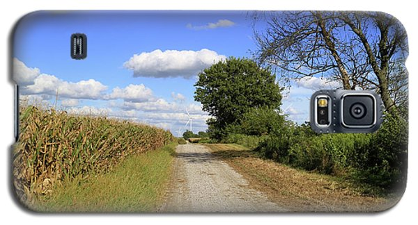 Galaxy S5 Case featuring the photograph Country Road In Benton County, Indiana by Scott Kingery