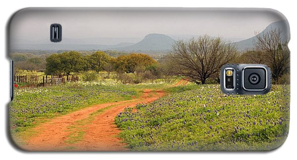 Country Road With Wild Flowers Galaxy S5 Case