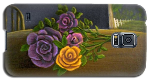 Galaxy S5 Case featuring the painting Country Roses by Sheri Keith