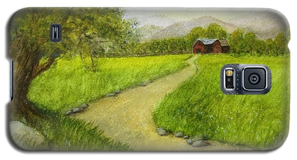 Country Scene - Barn In The Distance Galaxy S5 Case