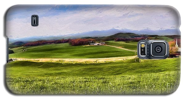 Galaxy S5 Case featuring the painting Country Sunday by Dan Carmichael