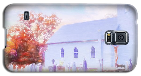 Country White Church And Old Cemetery. Galaxy S5 Case