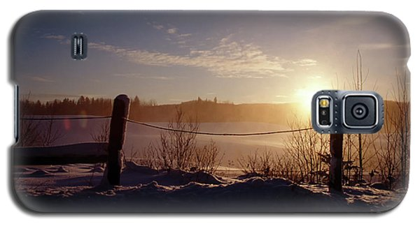 Country Winter Sunset Galaxy S5 Case