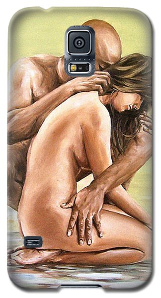 Galaxy S5 Case featuring the painting Couple by Natalia Tejera