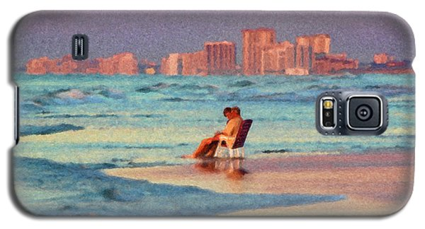 Couple Watching The Sunset Galaxy S5 Case