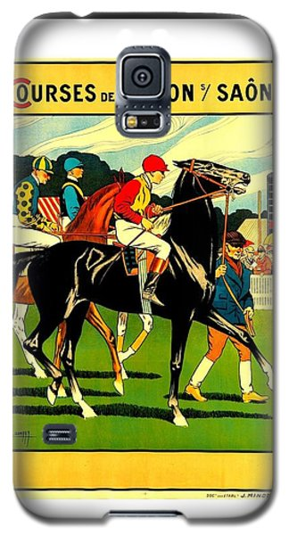 Courses De Chalon French Horse Racing 1911 II Leon Gambey Galaxy S5 Case