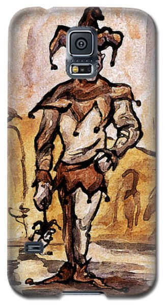 Galaxy S5 Case featuring the painting Court Jester by Kevin Middleton