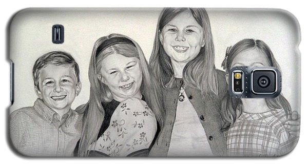 Galaxy S5 Case featuring the drawing Cousins  by Lori Ippolito