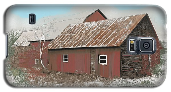 Galaxy S5 Case featuring the digital art Coventry Barn by John Selmer Sr