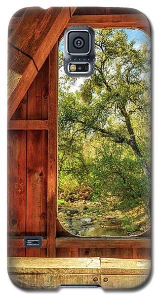 Covered Bridge Window Galaxy S5 Case by James Eddy